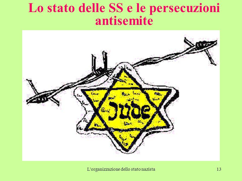 L'organizzazione dello stato nazista13 Lo stato delle SS e le persecuzioni antisemite