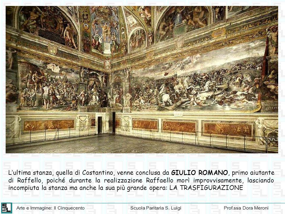 Arte e Immagine: Il CinquecentoScuola Paritaria S. LuigiProf.ssa Dora Meroni L'ultima stanza, quella di Costantino, venne conclusa da GIULIO ROMANO, p