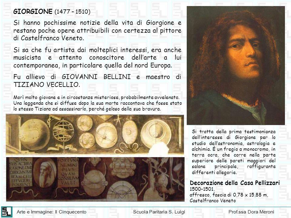 Arte e Immagine: Il CinquecentoScuola Paritaria S. LuigiProf.ssa Dora Meroni GIORGIONE (1477 – 1510) Si hanno pochissime notizie della vita di Giorgio