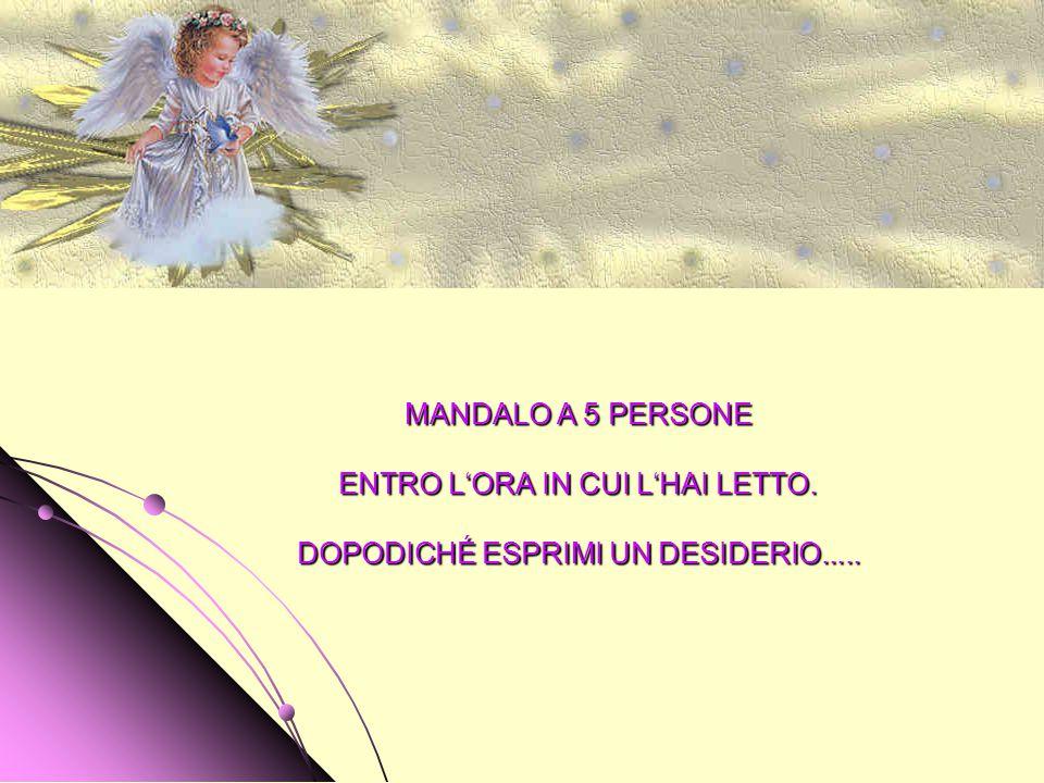 PRENDI QUESTO PICCOLO ANGELO E TIENILO STRETTO A TE. SI TRATTA DI UN ANGELO CUSTODE, INVIATO PER PROTEGGERTI. È UN ANGELO CUSTODE MOLTO SPECIALE...