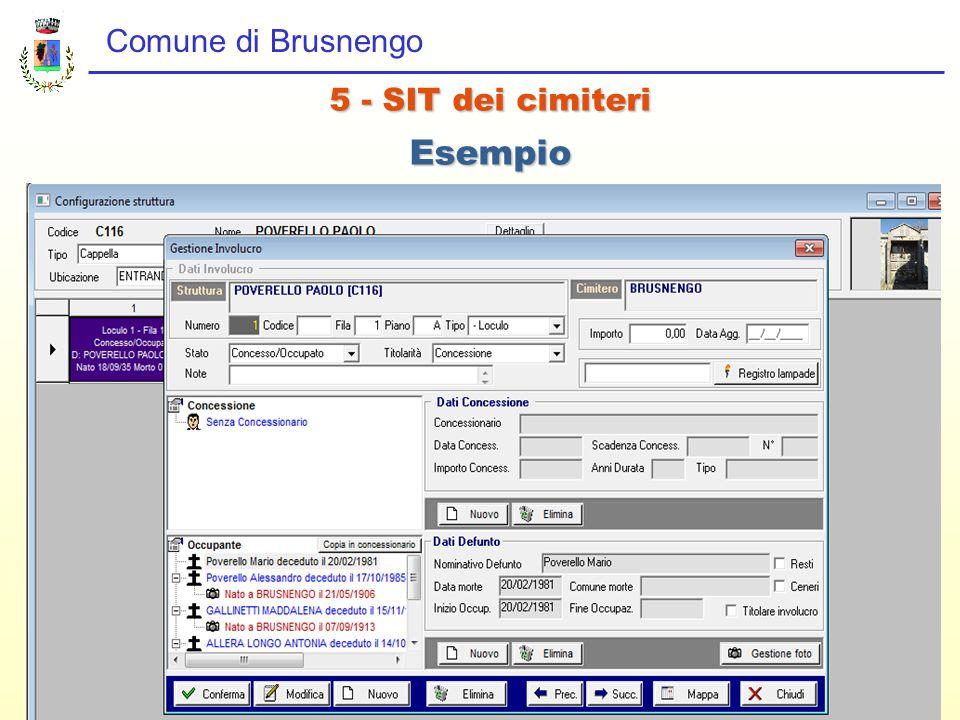 Comune di Brusnengo 5 - SIT dei cimiteri Esempio