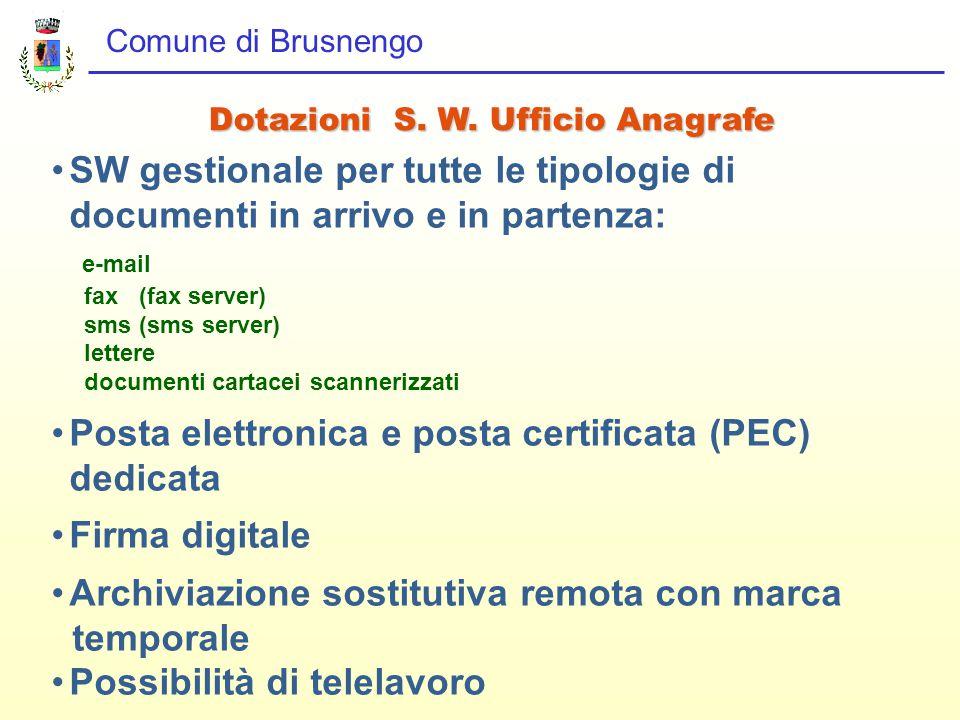 Comune di Brusnengo Dotazioni S. W.