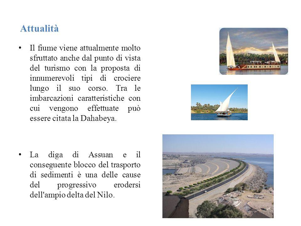 Attualità Il fiume viene attualmente molto sfruttato anche dal punto di vista del turismo con la proposta di innumerevoli tipi di crociere lungo il suo corso.