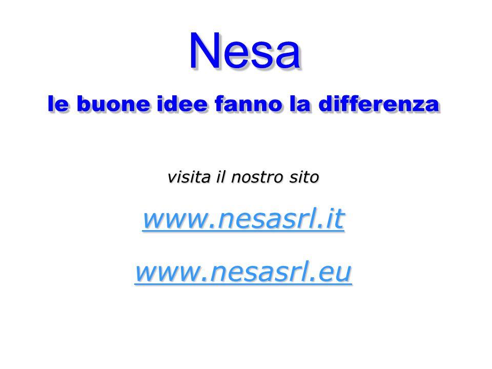 NesaNesa le buone idee fanno la differenza visita il nostro sito www.nesasrl.it www.nesasrl.eu