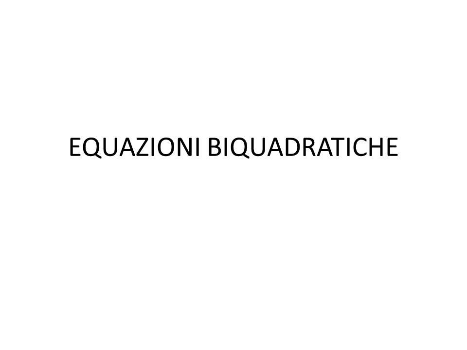 Risolvere la seguente equazione: Poniamo e quindi.