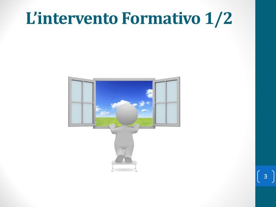 L'intervento Formativo 1/2 3