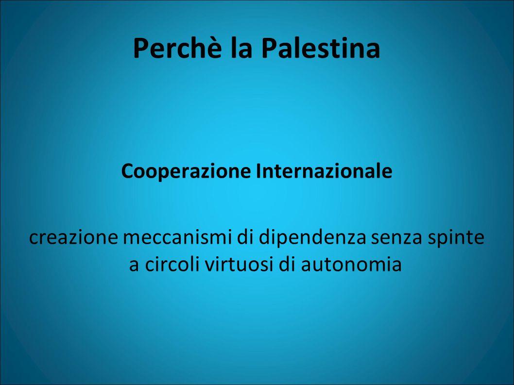 Perchè la Palestina Cooperazione Internazionale creazione meccanismi di dipendenza senza spinte a circoli virtuosi di autonomia