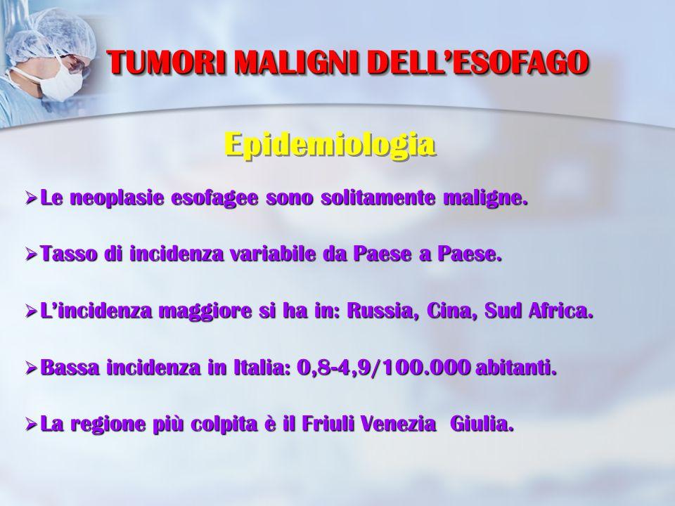 Diagnosi Ecoendoscopia esofagea Estensione parietale ed interessamento linfonodale
