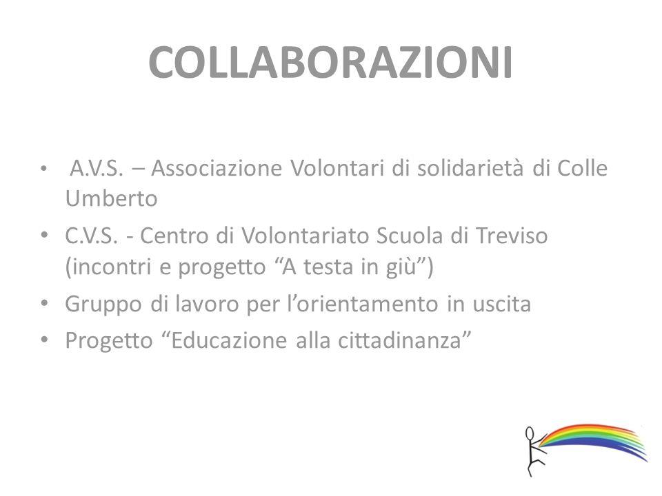 COLLABORAZIONI A.V.S. – Associazione Volontari di solidarietà di Colle Umberto C.V.S. - Centro di Volontariato Scuola di Treviso (incontri e progetto