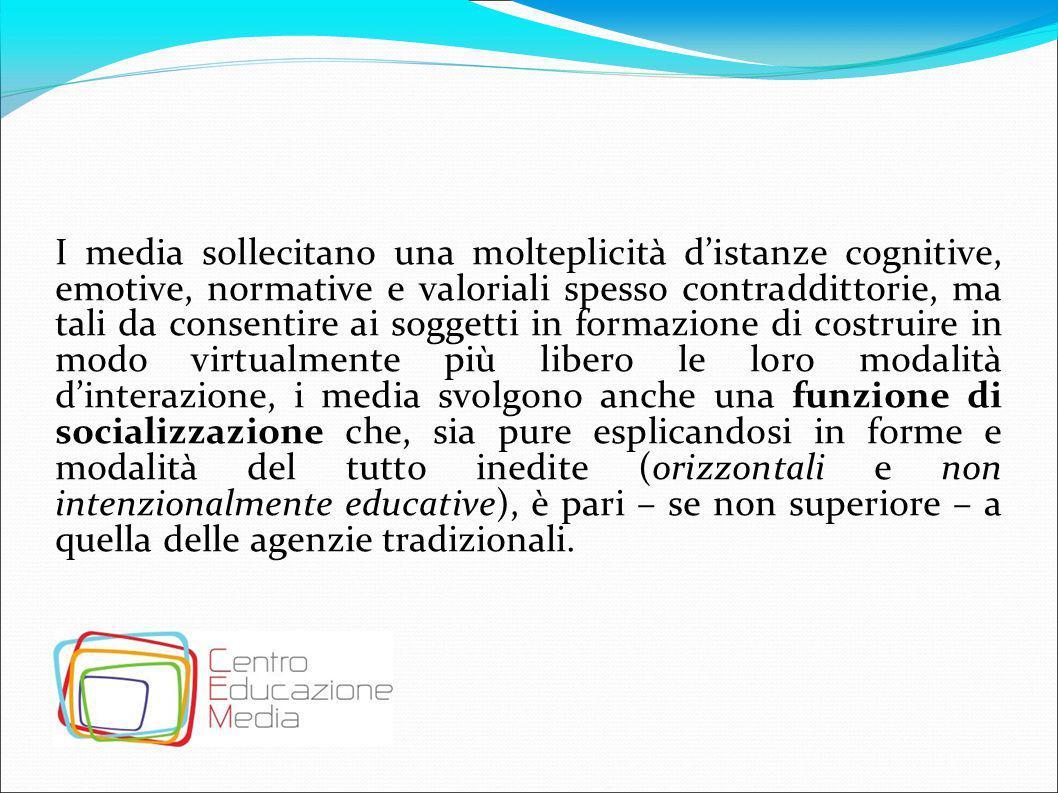 L'avvento della società dell'informazione Il progresso tecnologico Lo sviluppo scientifico Le trasformazioni strutturali della modernizzazione Le trasformazioni sociali e culturali della condizione moderna determinate dai media La percezione dello spazio e del tempo La rapidità dei processi di cambiamento La globalizzazione… Trasformazioni tecnologiche e antropologiche che si sono venute a determinare con l'avvento della società mediale, sollevano una questione centrale connesse all'autodeter- minazione e inedita libertà dei soggetti in formazione riguardo alla costruzione della conoscenza.