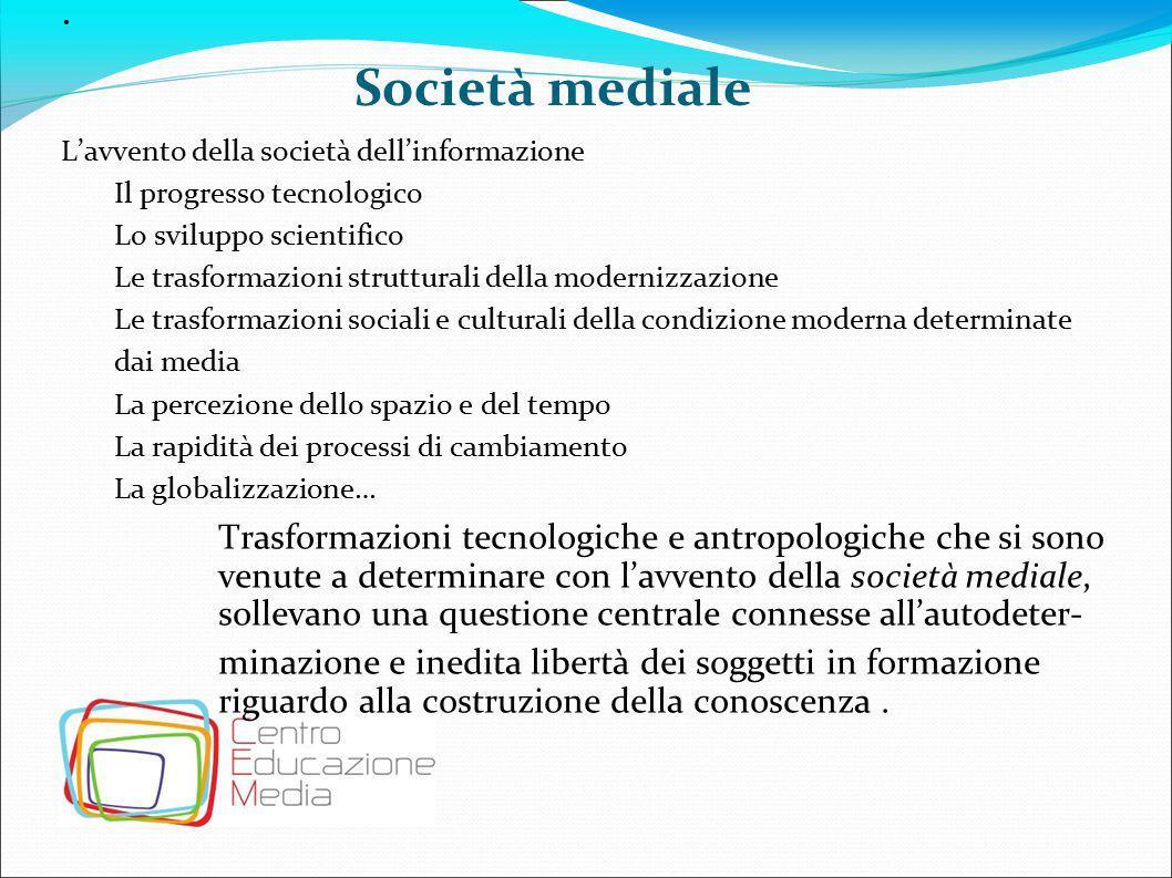 La Media Education Media Education è un percorso di conoscenza dei media attraverso i media.