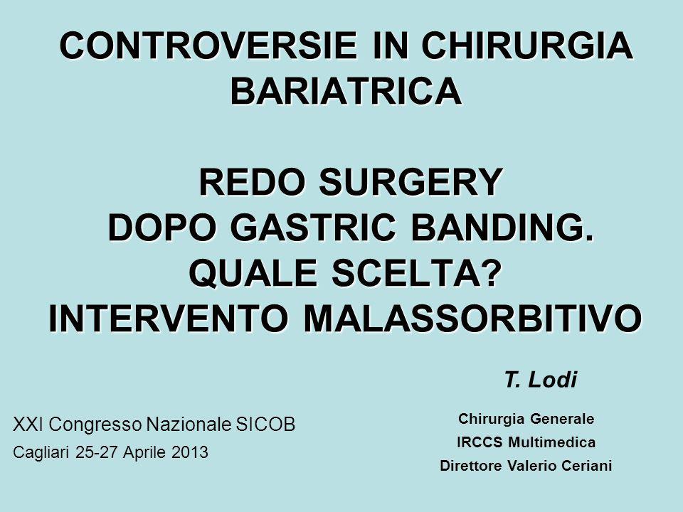 CONTROVERSIE IN CHIRURGIA BARIATRICA REDO SURGERY DOPO GASTRIC BANDING.