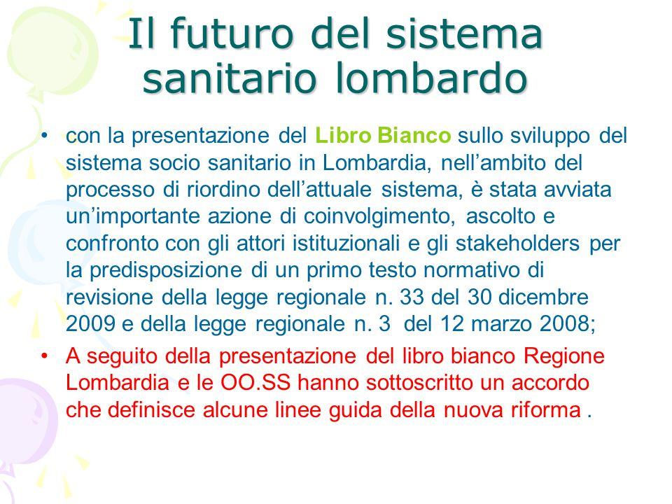 Il futuro del sistema sanitario lombardo con la presentazione del Libro Bianco sullo sviluppo del sistema socio sanitario in Lombardia, nell'ambito de
