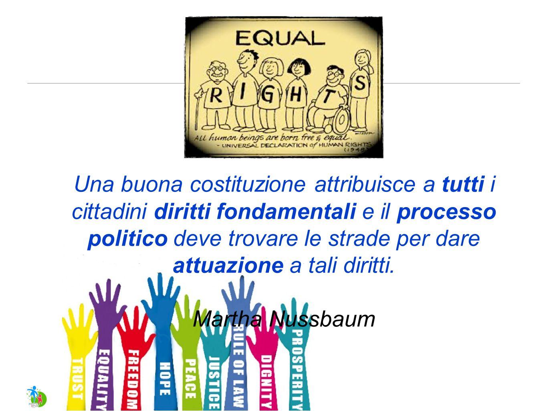 Una buona costituzione attribuisce a tutti i cittadini diritti fondamentali e il processo politico deve trovare le strade per dare attuazione a tali diritti.