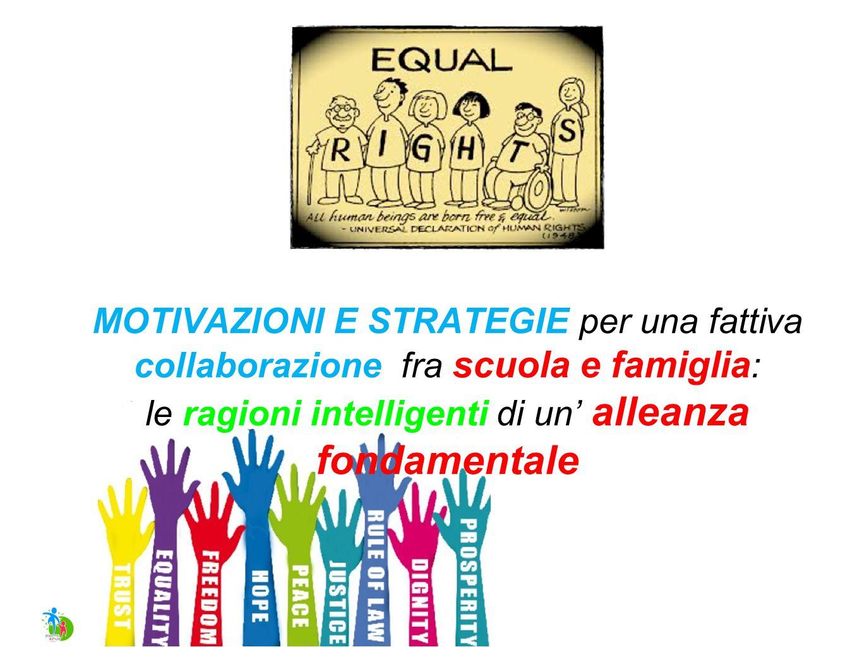 MOTIVAZIONI E STRATEGIE per una fattiva collaborazione fra scuola e famiglia : le ragioni intelligenti di un' alleanza fondamentale