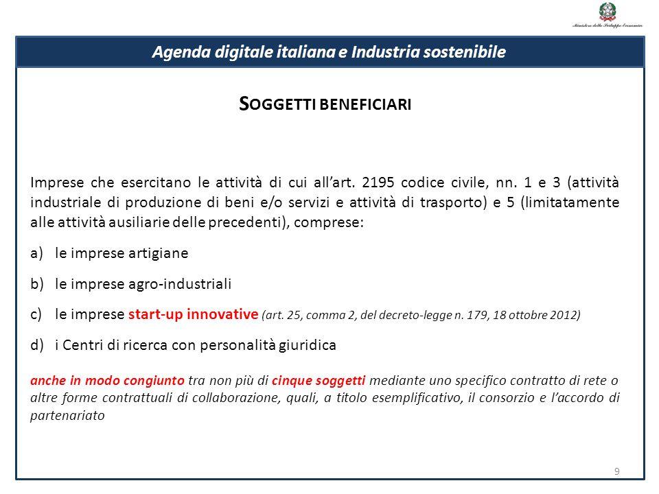 Imprese che esercitano le attività di cui all'art. 2195 codice civile, nn. 1 e 3 (attività industriale di produzione di beni e/o servizi e attività di