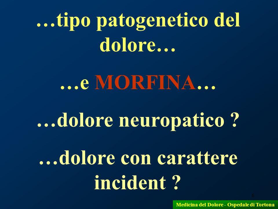7 Con la cordotomia s'interrompono le afferenze nocicettive nel quadrante anterolaterale del midollo spinale CORDOTOMIA Medicina del Dolore - Ospedale di Tortona