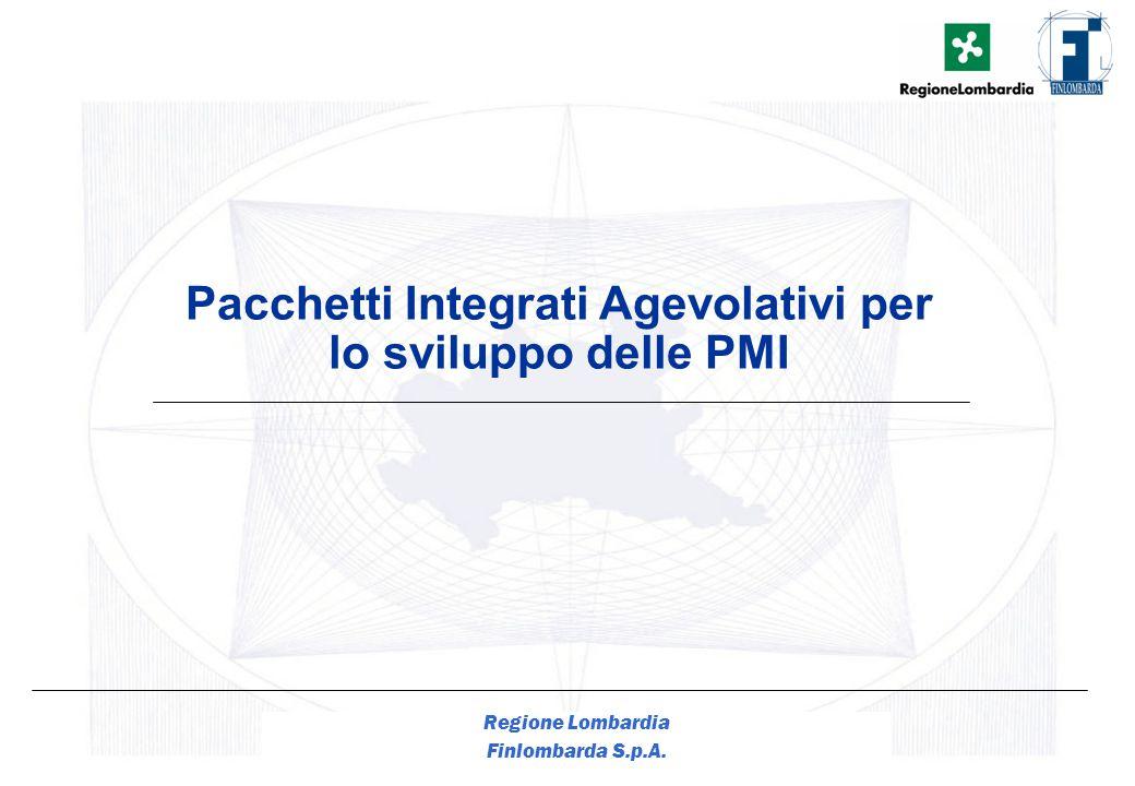1 Regione Lombardia Finlombarda S.p.A. Pacchetti Integrati Agevolativi per lo sviluppo delle PMI