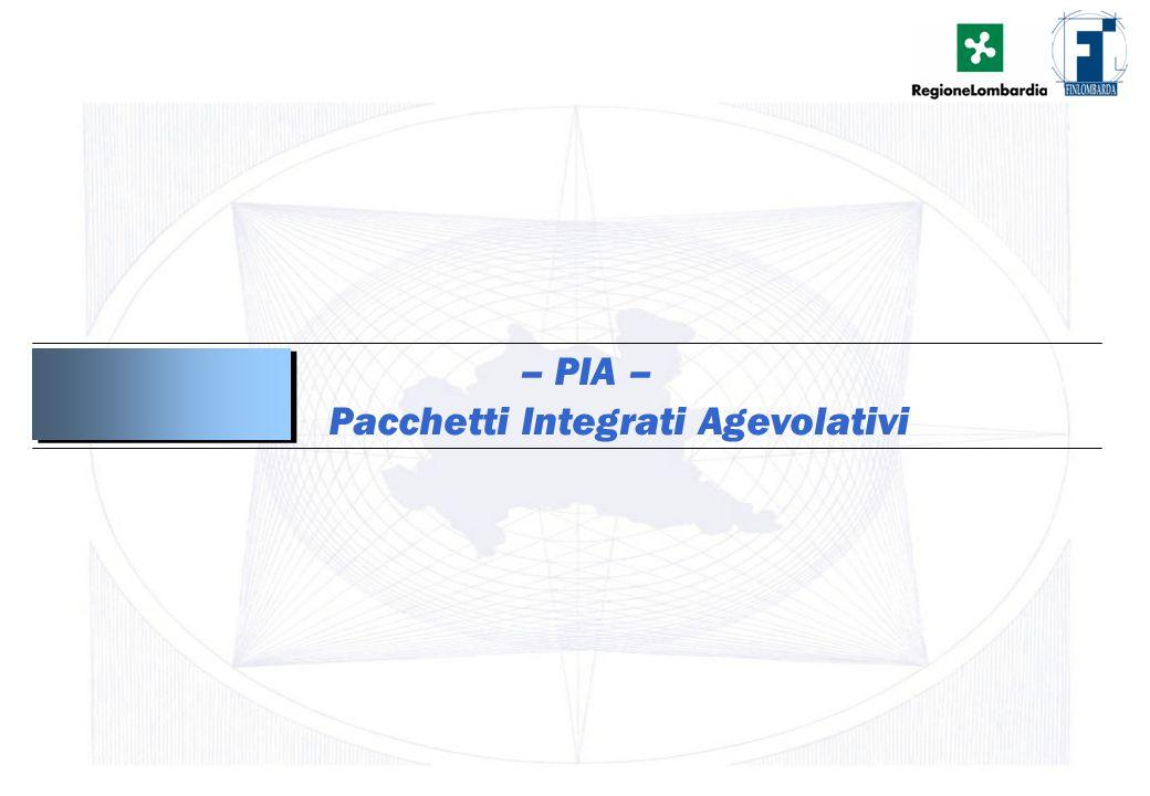 2 – PIA – Pacchetti Integrati Agevolativi