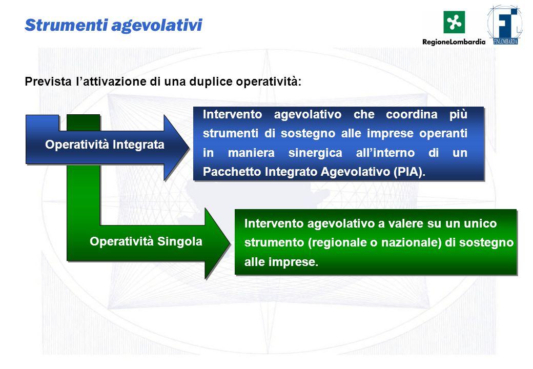 9 Strumenti agevolativi Intervento agevolativo che coordina più strumenti di sostegno alle imprese operanti in maniera sinergica all'interno di un Pac
