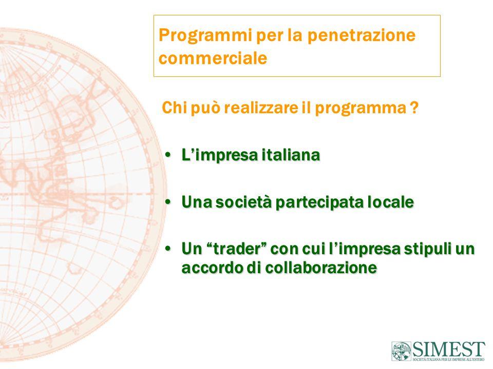 Programmi per la penetrazione commerciale Chi può realizzare il programma .