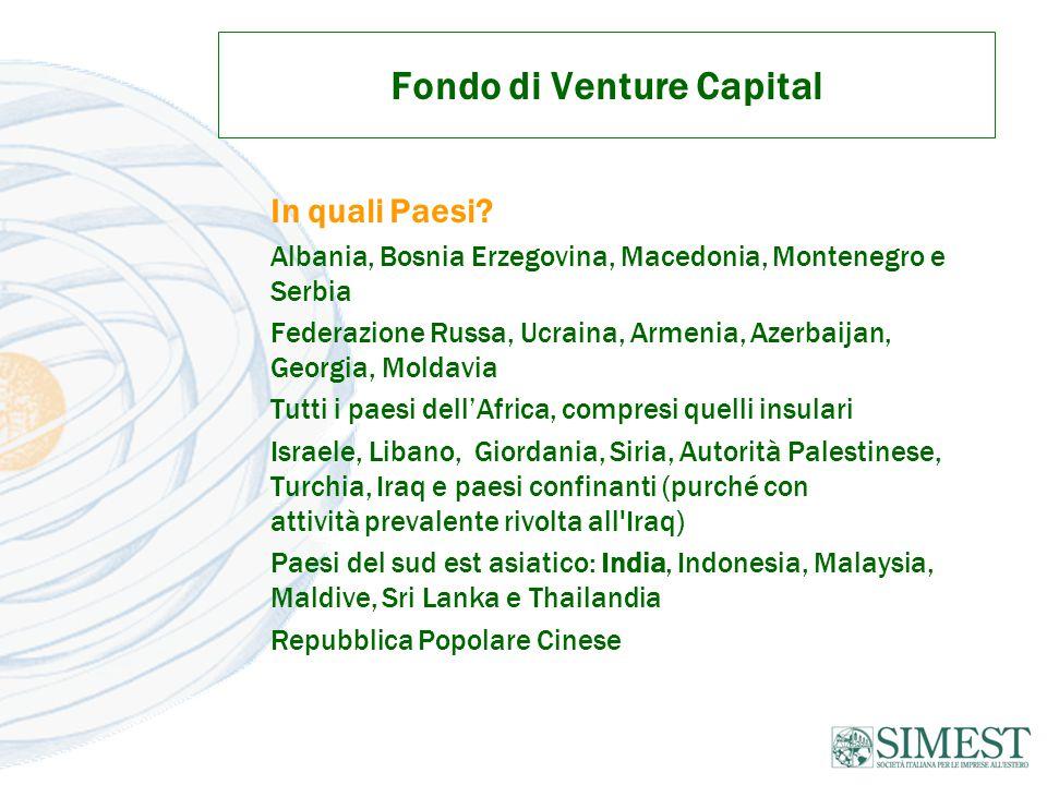 Fondo di Venture Capital In quali Paesi.