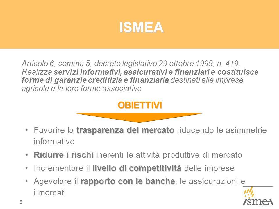 3 ISMEA Articolo 6, comma 5, decreto legislativo 29 ottobre 1999, n.