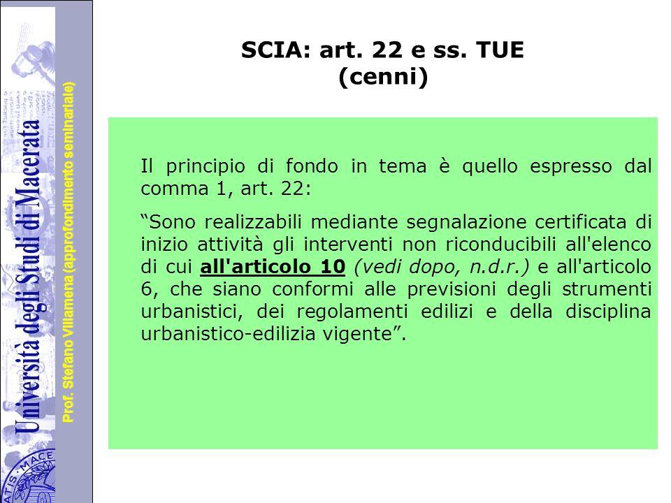 Università degli Studi di Perugia Prof.Stefano Villamena (approfondimento seminariale) SCIA: art.