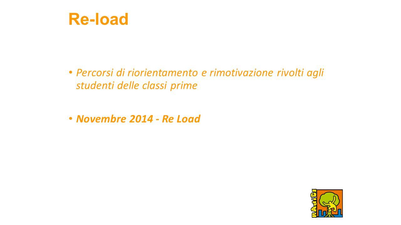 Re-load Percorsi di riorientamento e rimotivazione rivolti agli studenti delle classi prime Novembre 2014 - Re Load