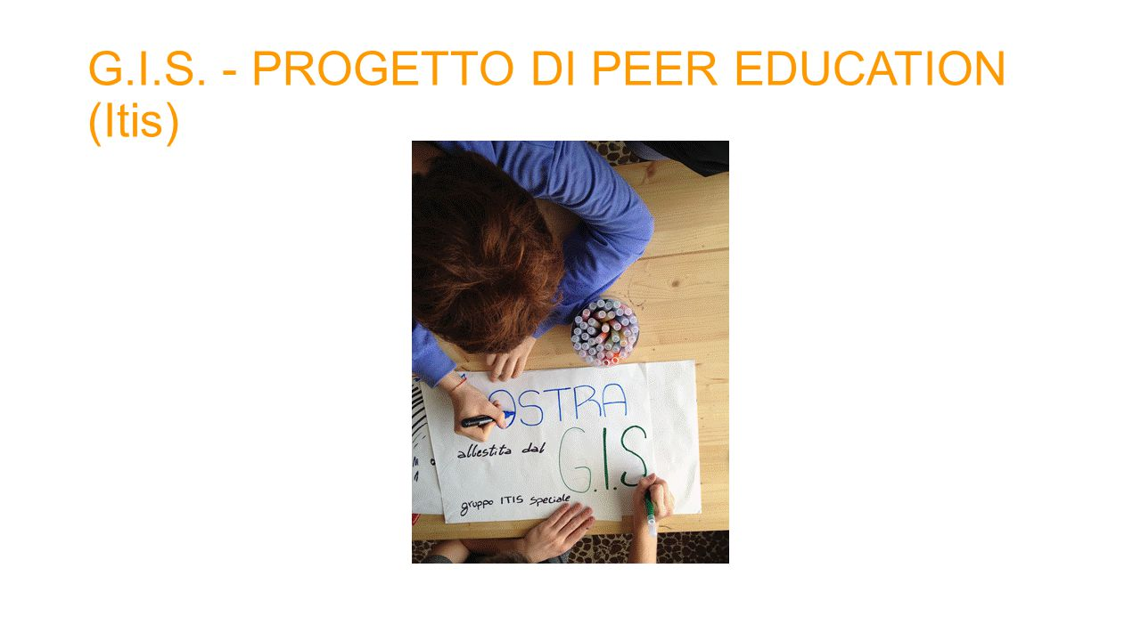 G.I.S. - PROGETTO DI PEER EDUCATION (Itis)