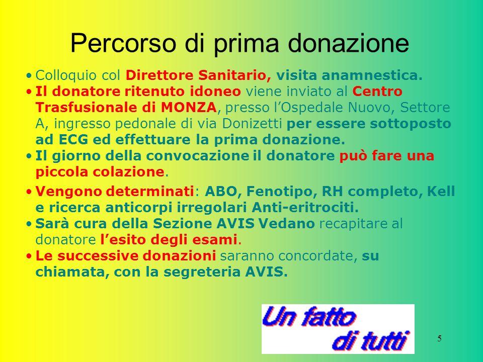 6 Come si dona donazioni periodiche di donatori consapevoli e controllati rappresentano una garanzia per la salute di chi riceve e di chi dona.