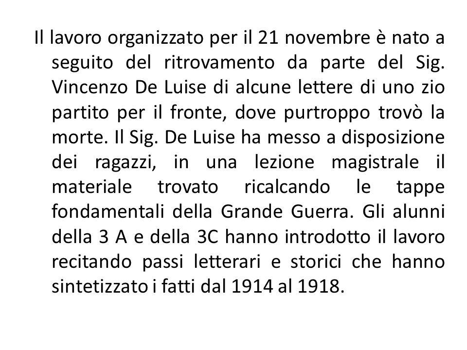 Il lavoro organizzato per il 21 novembre è nato a seguito del ritrovamento da parte del Sig.
