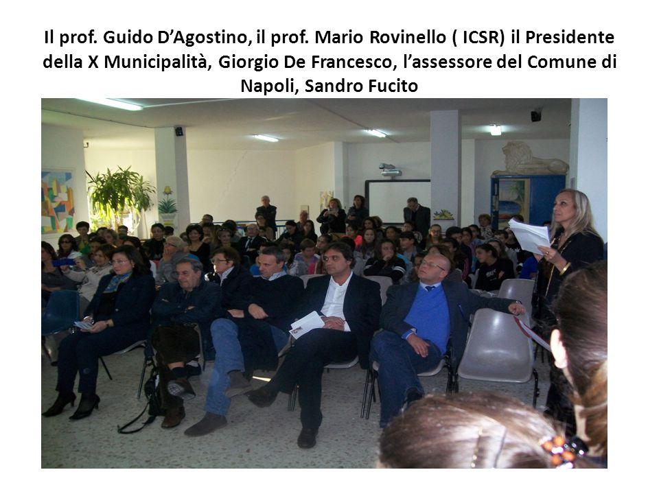 Il prof.Guido D'Agostino, il prof.