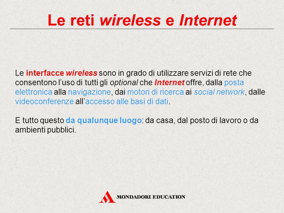 Le reti WLAN Le LAN wireless sono simili alle tradizionali LAN Ethernet cablate sia per prestazioni e costi sia per funzionamento e componenti utilizzati.