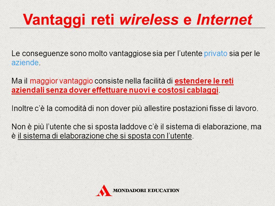 Le reti wireless e dispositivi Esistono molti sistemi di comunicazione wireless, ma la caratteristica di una rete wireless è la comunicazione fra dispositivi computerizzati.