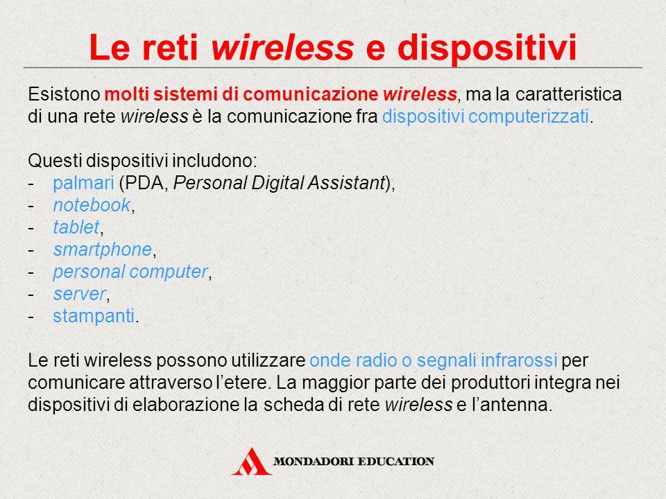 Onde radio Come detto il mezzo principale usato nella comunicazione wireless sono le onde radio.