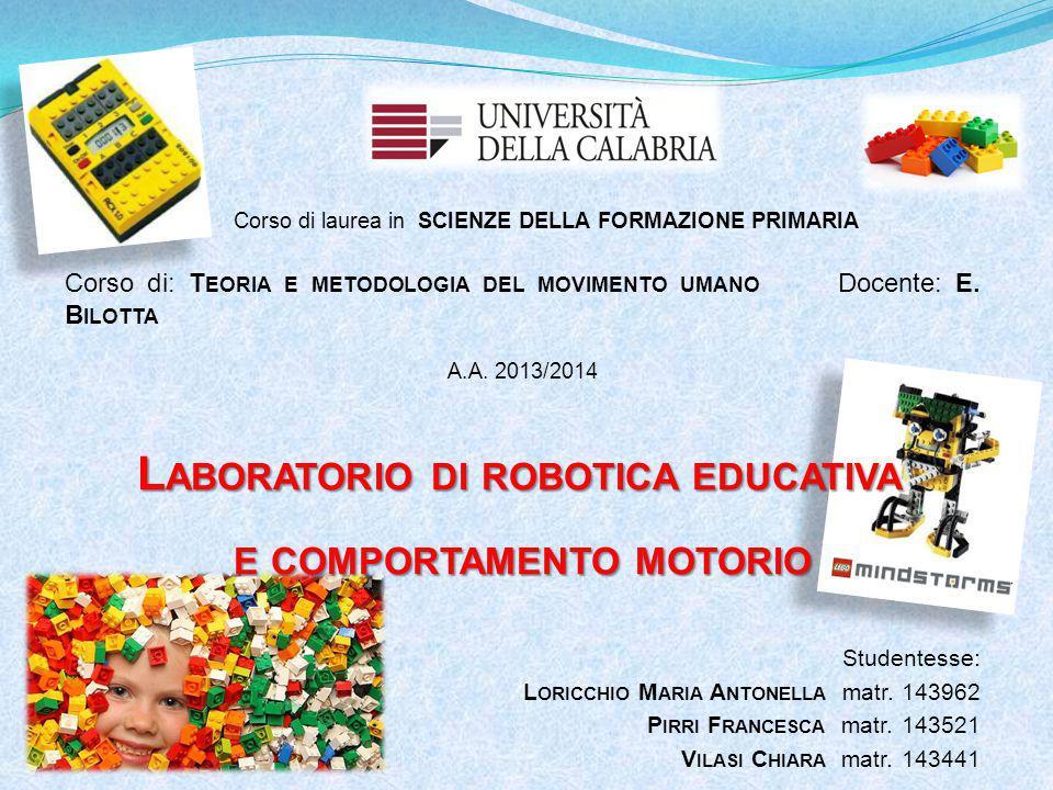 Studentesse: L ORICCHIO M ARIA A NTONELLA matr. 143962 P IRRI F RANCESCA matr.