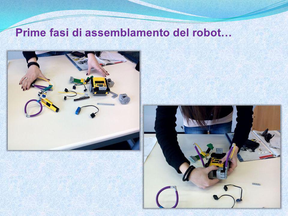Prime fasi di assemblamento del robot…