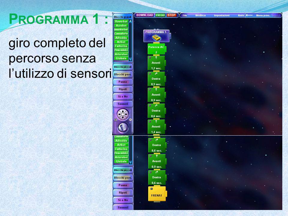 P ROGRAMMA 1 : giro completo del percorso senza l'utilizzo di sensori