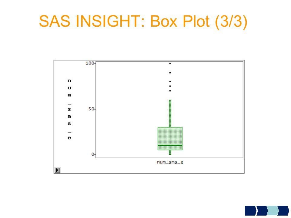 SAS INSIGHT: Box Plot (3/3)