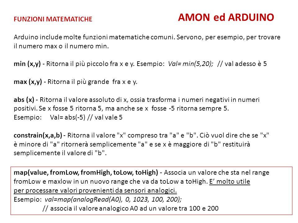 Tanti Servi AMON ed ARDUINO PROGRAMMA : Tanti Servi http://www.mauroalfieri.it/elettronica/tutorial-arduino-e-i-servo-iii.html PROGRAMMA : Quattro Servi