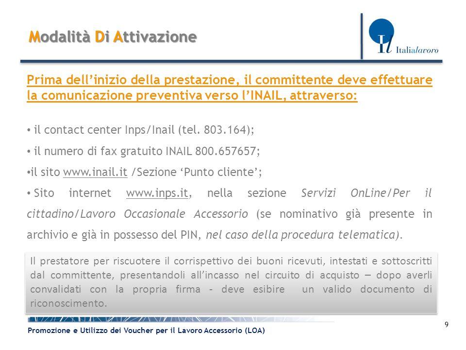 10 Promozione e Utilizzo dei Voucher per il Lavoro Accessorio (LOA) Disciplina Transitoria Con la Riforma Fornero - L.