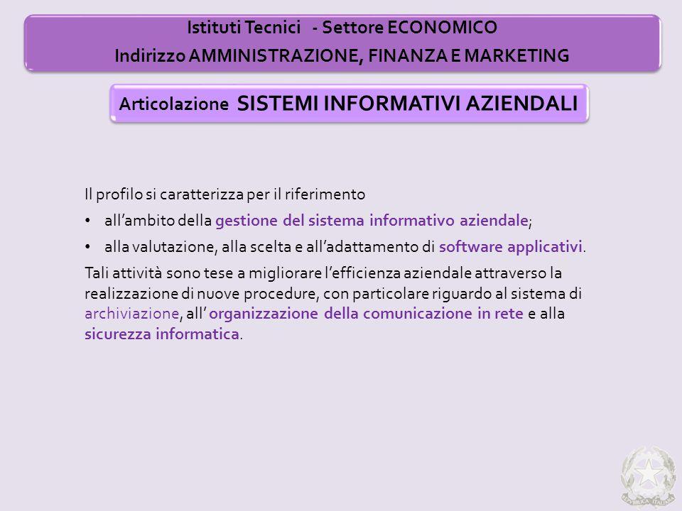 Il profilo si caratterizza per il riferimento all'ambito della gestione del sistema informativo aziendale; alla valutazione, alla scelta e all'adattam