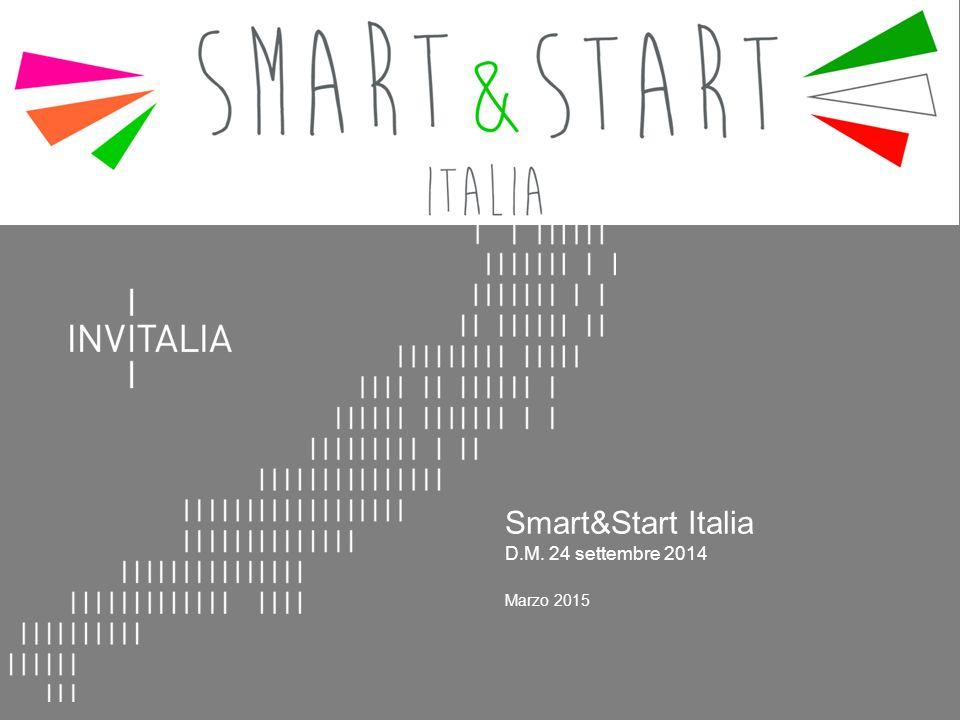 Smart&Start Italia D.M. 24 settembre 2014 Marzo 2015