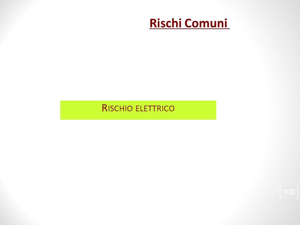 R ISCHIO ELETTRICO 100 Rischi Comuni