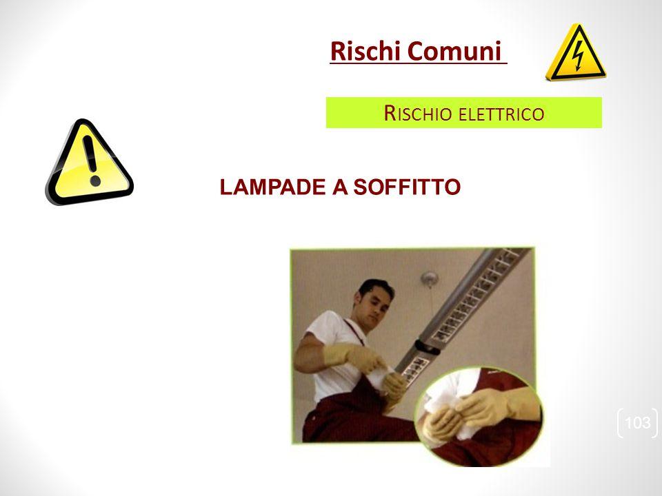 LAMPADE A SOFFITTO 103 Rischi Comuni R ISCHIO ELETTRICO