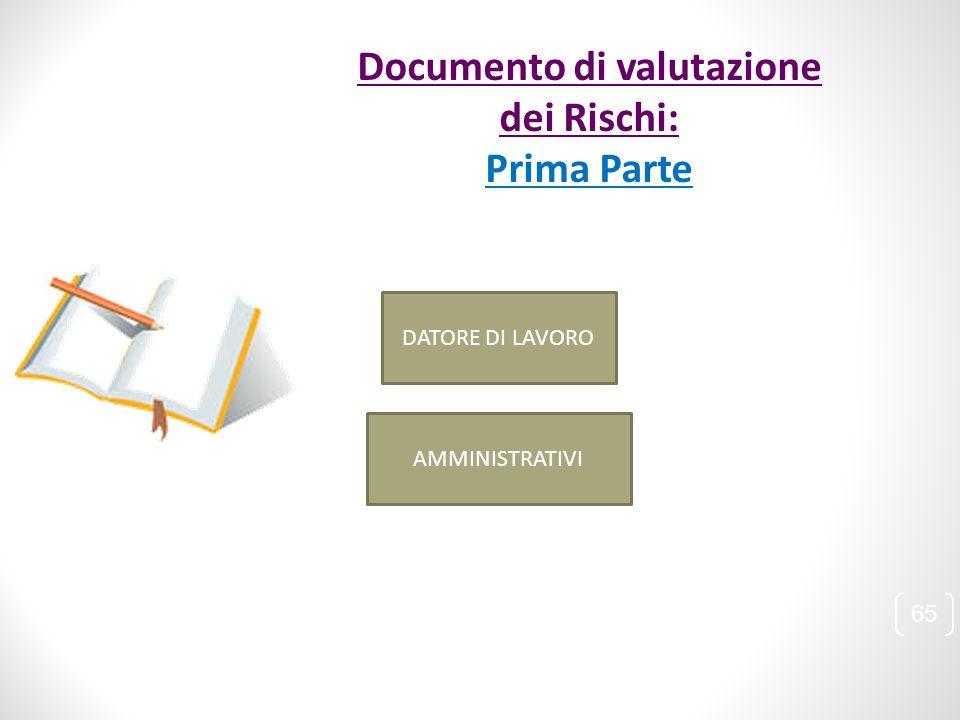 Documento di valutazione dei Rischi: Prima Parte DATORE DI LAVORO AMMINISTRATIVI 65