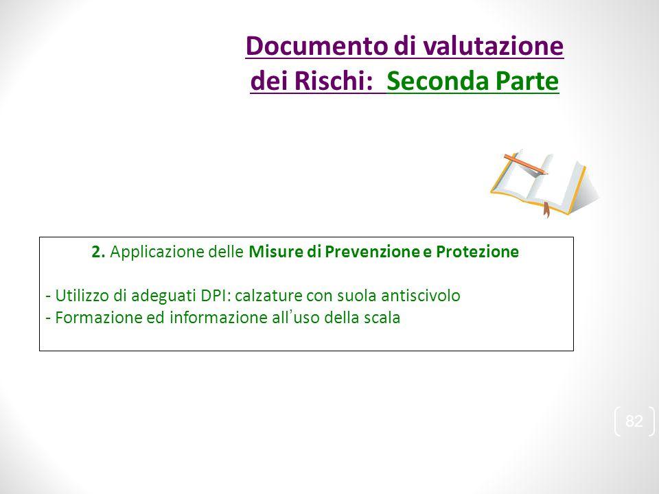 2. Applicazione delle Misure di Prevenzione e Protezione - Utilizzo di adeguati DPI: calzature con suola antiscivolo - Formazione ed informazione all'