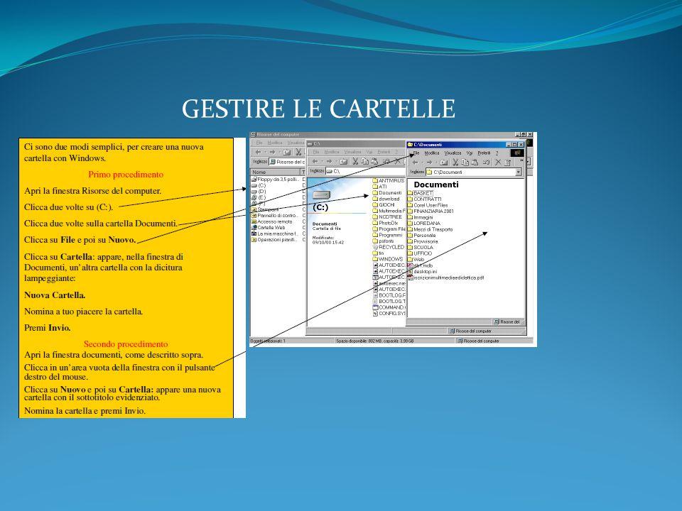 GESTIRE LE CARTELLE