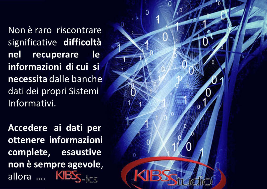 Non è raro riscontrare significative difficoltà nel recuperare le informazioni di cui si necessita dalle banche dati dei propri Sistemi Informativi. A